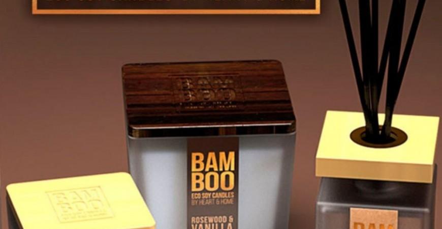 Bamboo: le candele in cera di soia con l'anima ancora più green